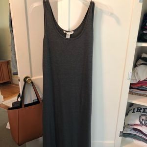Forever 21 Gray Charcoal Maxi Dress